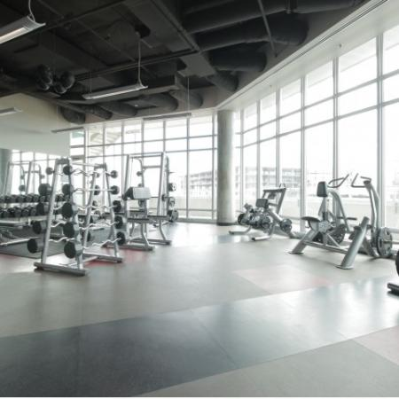 West Sixth Apartments Lifestyle - 24 Hour Fitness Gym Weight Equipment
