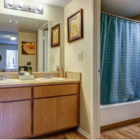 Villas on Apache Apartments Furnished Apartment Bathroom