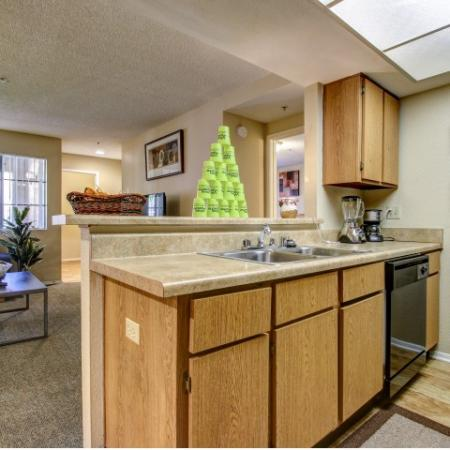 Villas on Apache Apartments Furnished Apartment Kitchen