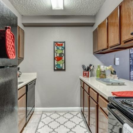 Tiger Plaza Apartments Furnished Apartment Kitchnen
