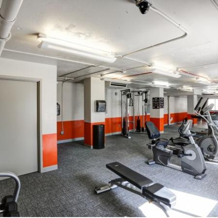 The Landing Apartments Lifestyle - 24 Hour Fitness Center Weights Equipment