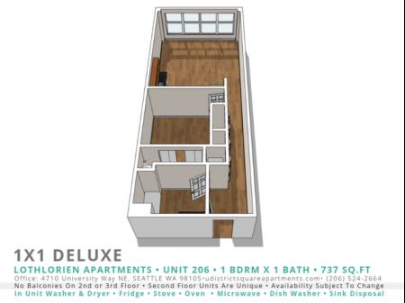 1 Bed 1 Bath Deluxe