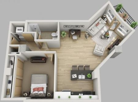 1 Bed, 1 Bath Deluxe (Furnished)