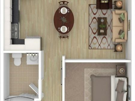 1 Bed, 1 Bath Penthouse A
