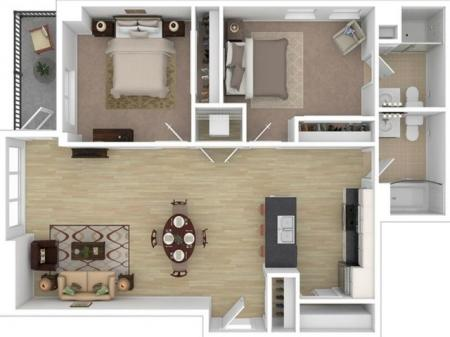 2 Bed, 2 Bath Private Room (Furnished)