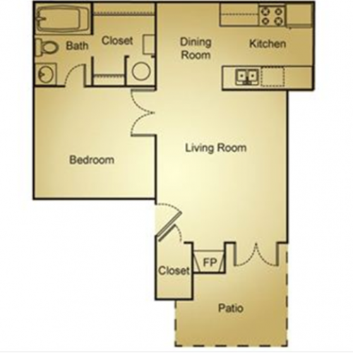 1 Bed, 1 Bath Plus WD