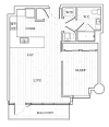 1 Bedroom Floor Plan | Tower at OPOP Apartments | Apartments in St. Louis MO 05