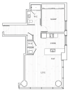 1 Bedroom Floor Plan | Tower at OPOP Apartments | Apartments in St. Louis MO 06