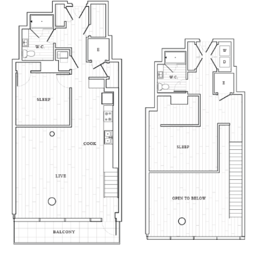Floor Plan 2 Bedroom Penthouse  | Tower at OPOP Apartments | Apartments in St. Louis