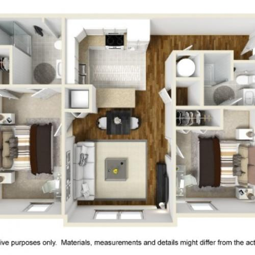 Abbotts Run Apartments - Carolina Floor Plan