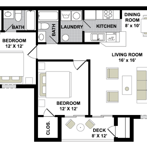 Sherwood 2 Bed, 2 Bath
