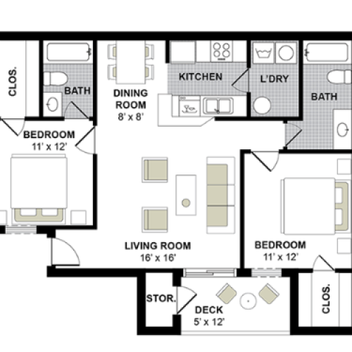 Hampton 2 Bed, 2 Bath