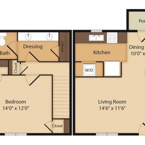 The Coolidge- 1 Bedroom