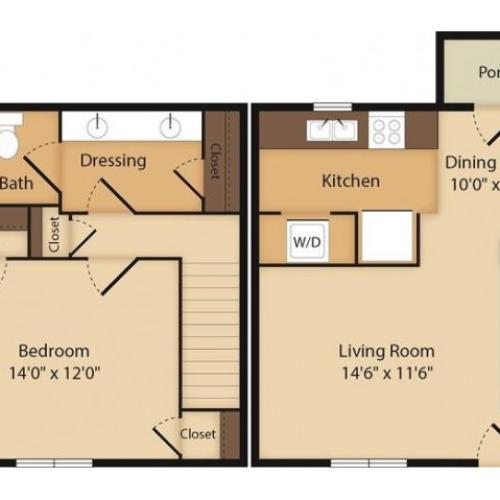 The Warner-1 Bedroom