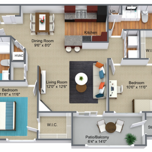 2 Bed, 2 Bath-Updated