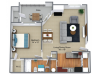 1 Bed, 1 Bath- Updated