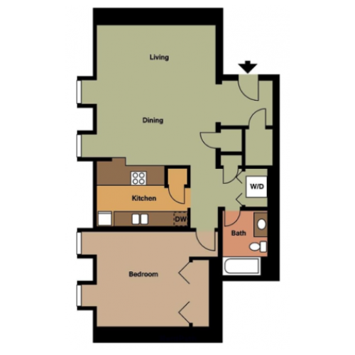 Old Cathedral Building- 1 Bed, 1 Bath