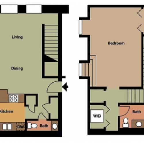 Old Cathedral- 1 Bed, 1.5 Bath
