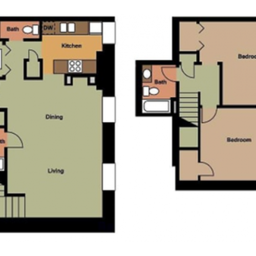 Old Cathedral 2 Bed, 2.5 Bath