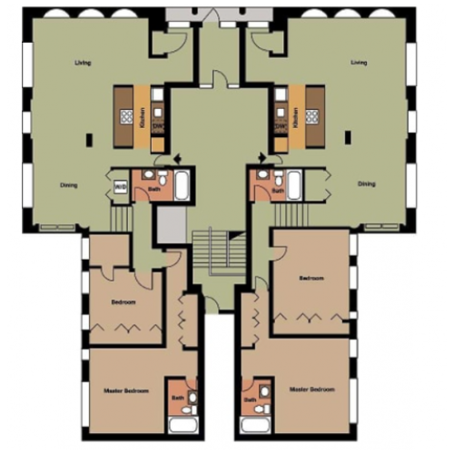Chimes Building- 2 Bed, 2 Bath
