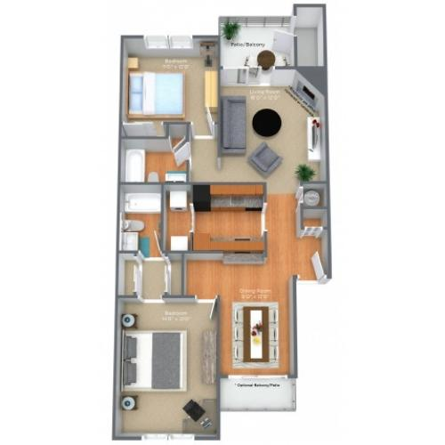 2 Bed, 2 Bath- Updated