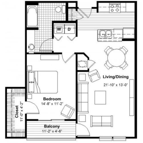 One Bedroom | Apartments Kansas City, MO | Union Hill Place