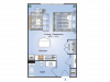 Studio Floor Plan | Apartments In Birmingham AL| Station 121