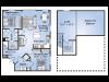 2 Bedroom Floor Plan | Apartments In Birmingham AL| Station 121