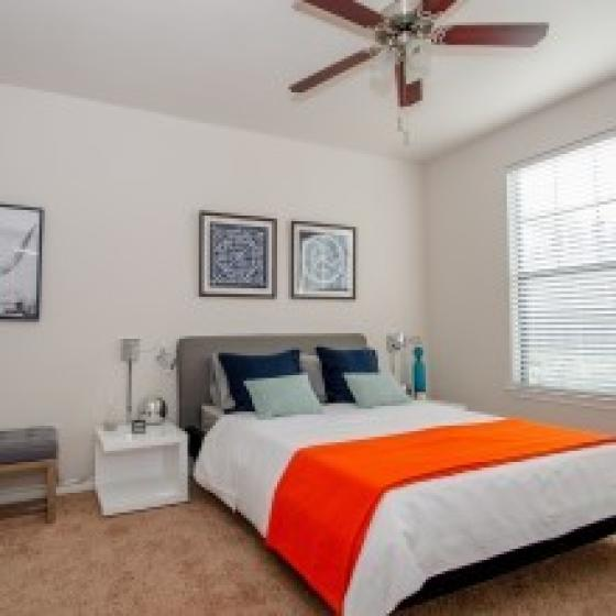 Elegant Master Bedroom | Apartments in Far North Dallas | Advenir at Frankford Springs