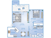 1 Bedroom Floor Plan | Apartments In Richmond TX | Advenir at Grand Parkway West