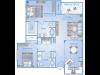 2 Bedroom Floor Plan | Richmond TX Apartments | Advenir at Grand Parkway West