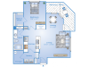 1 Bdrm Floor Plan | Apartment In Sugar Land Tx | Advenir at Milan