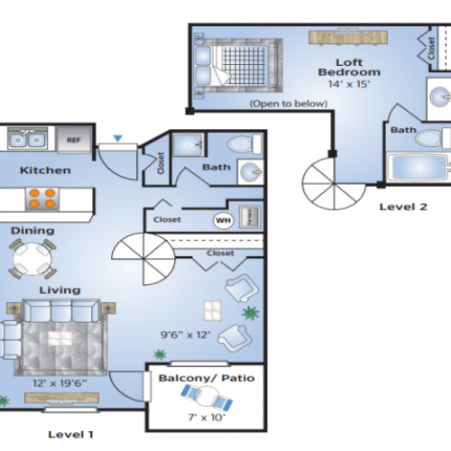 1 Bedroom Floor Plan | Apartments In Aurora Colorado | Advenir at Del Arte