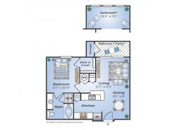 1 Bdrm Floor Plan   Apartments In Humble   Advenir at Eagle Creek