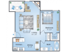 1 Bedroom Floor Plan | Denver Colorado Apartments | Advenir at Bear Valley