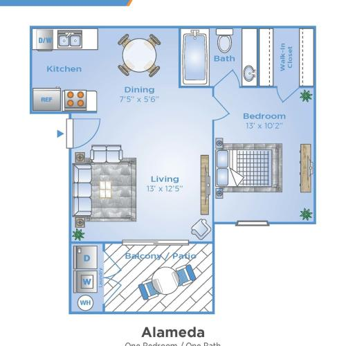 1 Bdrm Floor Plan | Apartments In Venice FL | Advenir at Monterrey