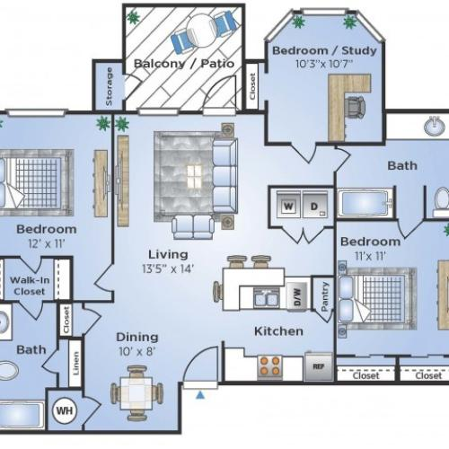 Windemere Apartments: 3 Bed / 2 Bath Apartment In HOUSTON TX