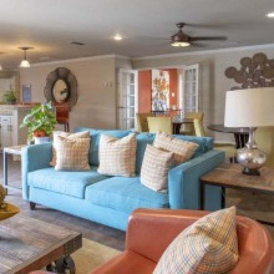 Luxurious Living Room | Midland TX Apartments | Advenir at The Meadows