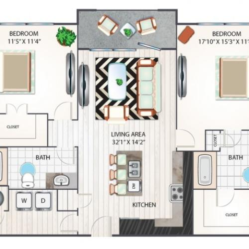 Congaree Floorplan Renovated