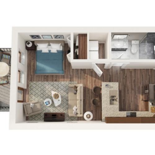 Studio Floor Plan | Apartments Odessa Tx | Advenir at Legado Ranch