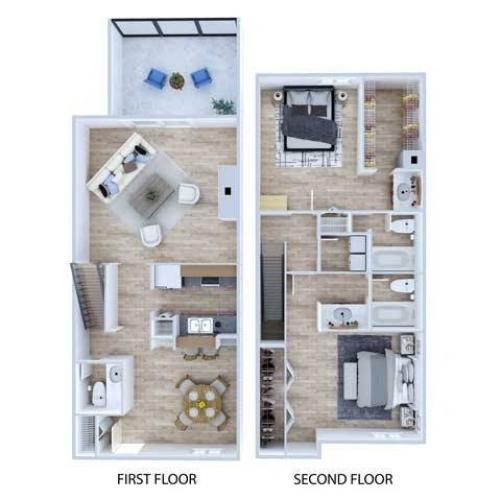 Townhome Floor Plan | Apartments Midland TX | Advenir at The Meadows