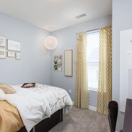 Spacious Bedroom | Kent OH Apartment Homes | 345 Flats