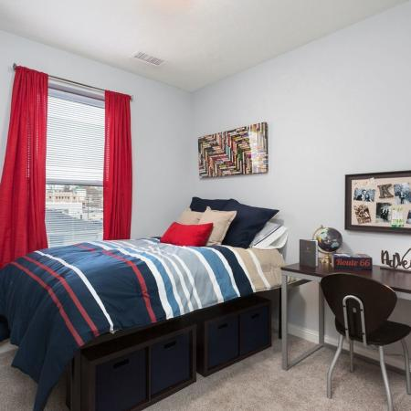 Residents in the Bedroom | Apartment Homes in Kent, OH | 345 Flats