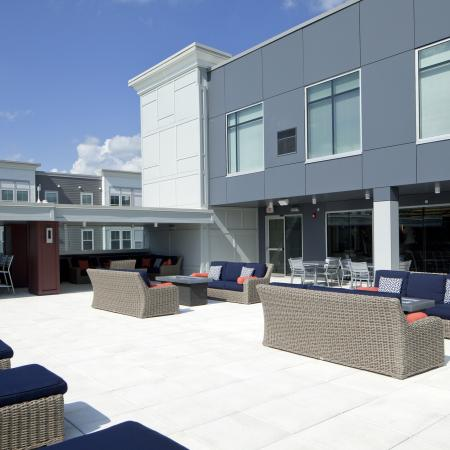 Resident Sun Deck | Urbana IL Apartment For Rent | Campus Circle