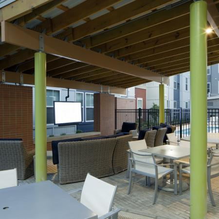 Outdoor TV Lounge | Apartments in Urbana, IL | Campus Circle