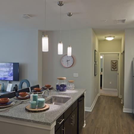Modern Kitchen | Urbana IL Apartment For Rent | Campus Circle