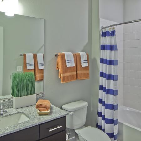 Spacious Bathroom | Urbana IL Apartment For Rent | Campus Circle
