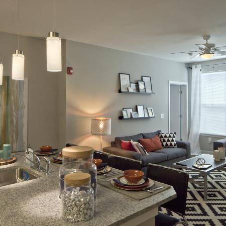 Elegant Living Room | Apartments for rent in Urbana, IL | Campus Circle