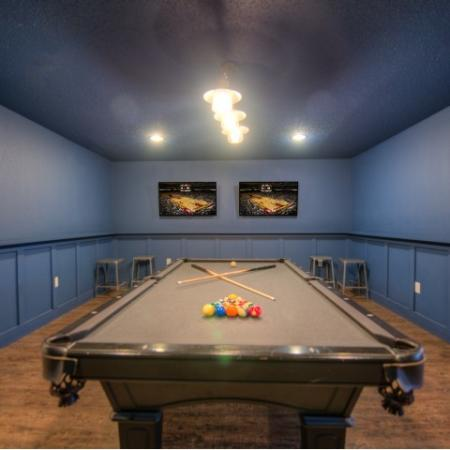 Residents Playing Billiards   Apartments Homes for rent in Minneapolis, MN   44 North