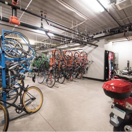 Spacious Resident Bike Storage Room   Minneapolis MN Apartments For Rent   44 North